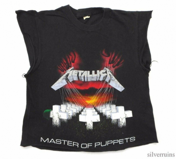 Metallica Vintage T Shirt 80's 1986 Master Of Puppets Tour Concert Dates Altered
