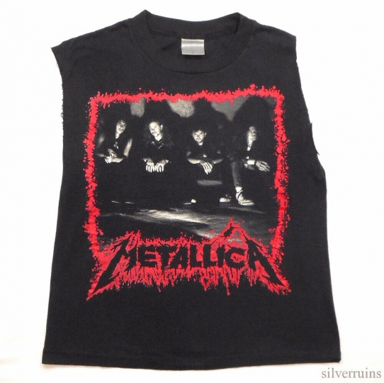 Metallica Vintage T Shirt 80's 1990 Justice For All Tour Concert Thrash Metal SL