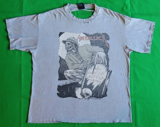 Metallica Vintage T Shirt 90's 1994 Tour Concert XL Pushead Gravekeeper THRASHED