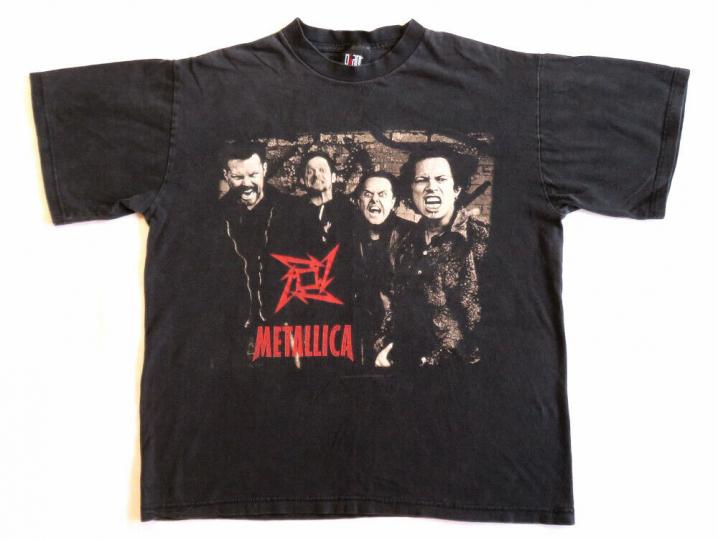 Metallica Vintage T Shirt 90's 1996 Concert Tour On The Load Again Dates L