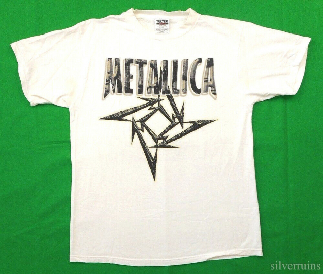 Metallica Vintage T Shirt 90's 1996 Load Concert L Poor Touring Me Star Logo WH