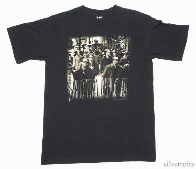Metallica Vintage T Shirt 90's 1996 Load Tour Concert Rock Band NY Streets L