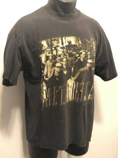 Metallica Vintage T Shirt 90's 1996 Load Tour LARGE Rock Band Concert NY Streets