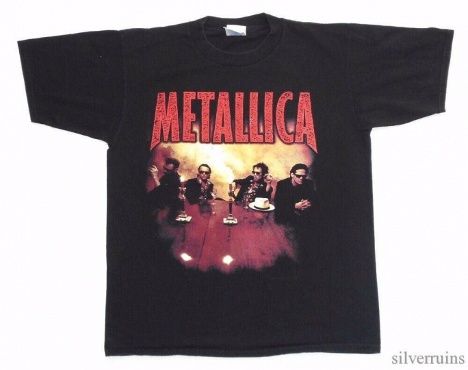 Metallica Vintage T Shirt 90's 1996 Load Tour Rock Band Concert L Cigar Logo