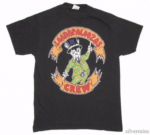 Metallica Vintage T Shirt 90's 1996 Loadapaloozas Crew Tour Concert Rock Band L
