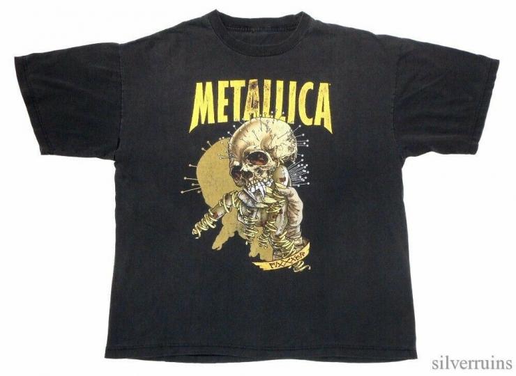 Metallica Vintage T Shirt 90's 1997 Reload Tour Concert Pushead Fixxxer