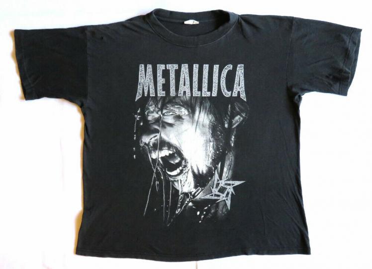 Metallica Vintage T Shirt 90's 1999 Gods Of Metal Concert Hetfield