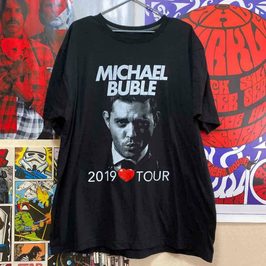 Michel Buble Band T-Shirt.Vintage.Old Clothes.90S Size Xl(Ll)