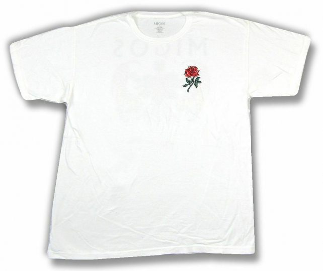 Migos Rose Tigers White T Shirt New Official Band Merch Quality Control