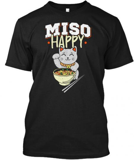 Miso Soup Happy Japanese Food Pun Hanes Tagless Tee T-Shirt