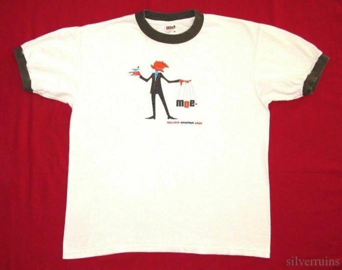 Moe Vintage T Shirt 2002 Summer Tour Concert Dates Jam Band Rock Music Ringer