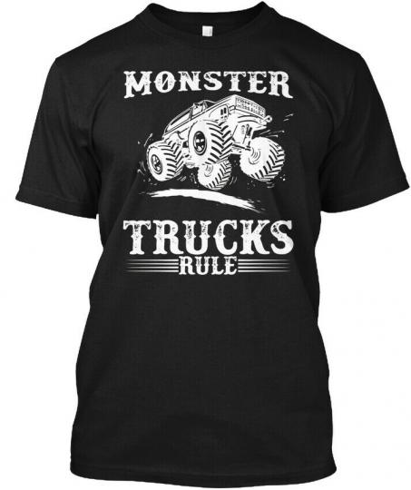 Monster Trucks Rule Tr Hanes Tagless Tee T-Shirt