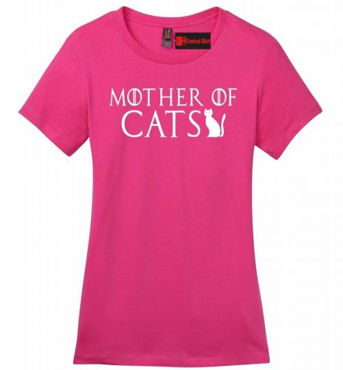Mother Of Cats Ladies T Shirt TV Show Parody Kitten Animal Lover Tee Z4