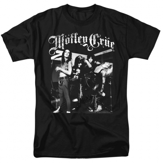 Motley Crue Band Photo Licensed Adult T-Shirt