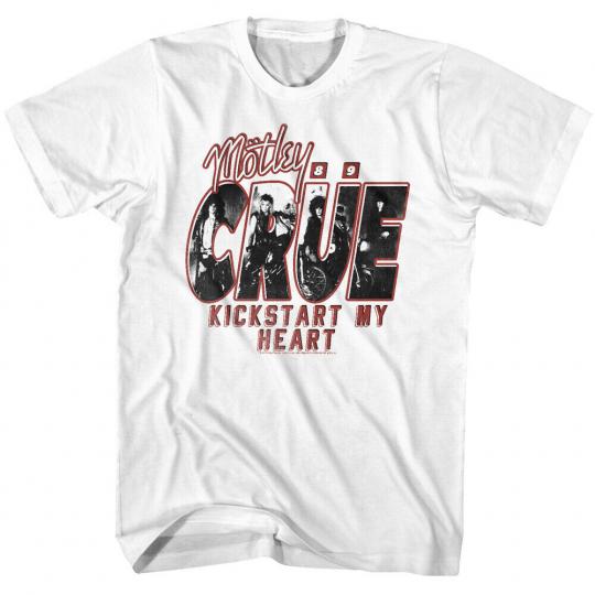 Motley Crue Kickstart my Heart 89 Men's T shirt OFFICIAL Rock Band Fan Tee