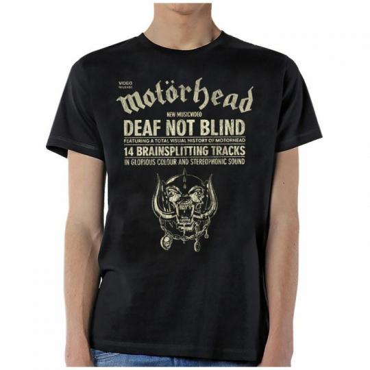 Motorhead Deaf Not Blind Heavy Metal Rock Music Band Lemmy Mens Shirt MHD10164