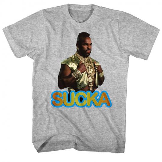 Mr. T 1980's Wrestler Boxer Adult T-Shirt Tee Sucka