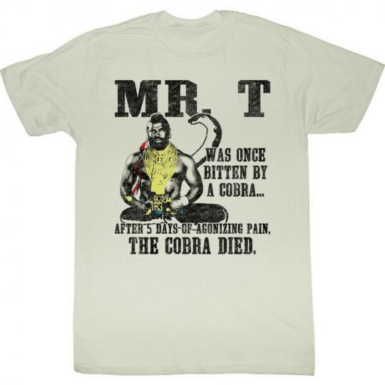 Mr. T Cobra Died Adult T-Shirt Tee
