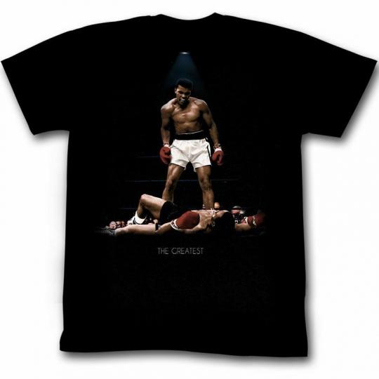 Muhammad Ali All Over Again Reg Black Adult T-Shirt