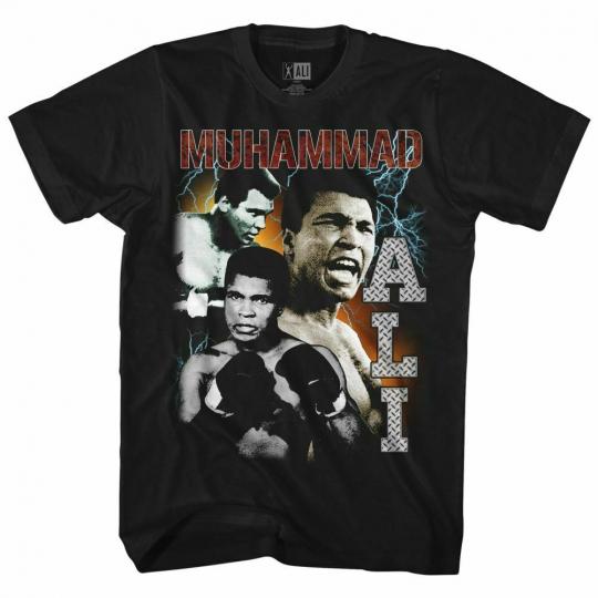 Muhammad Ali Bootleg Black Adult T-Shirt