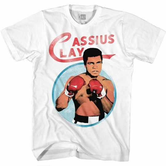 Muhammad Ali Cassius White Adult T-Shirt