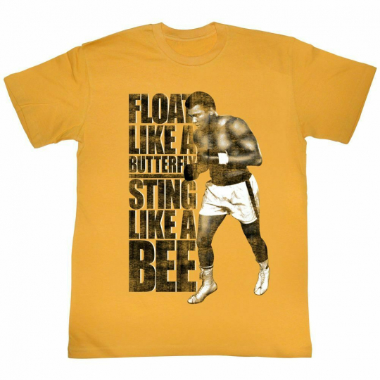 Muhammad Ali Like A Bee Ginger Adult T-Shirt