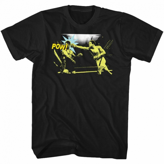 Muhammad Ali Pow Black Adult T-Shirt