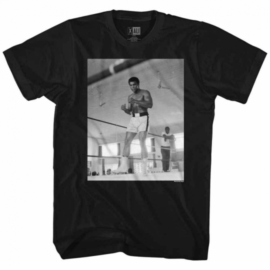 Muhammad Ali Step 234 Black Adult T-Shirt