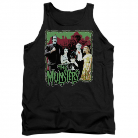Munsters TV Show Cast Picture NORMAL FAMILY Licensed Tank Top All Sizes