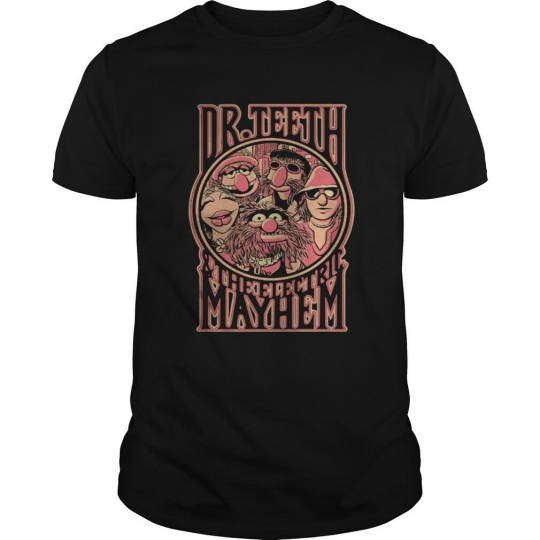 Muppets Show Dr. Teeth And The Electric Mayhem T-Shirt M-3XL US Men's Trend 2019