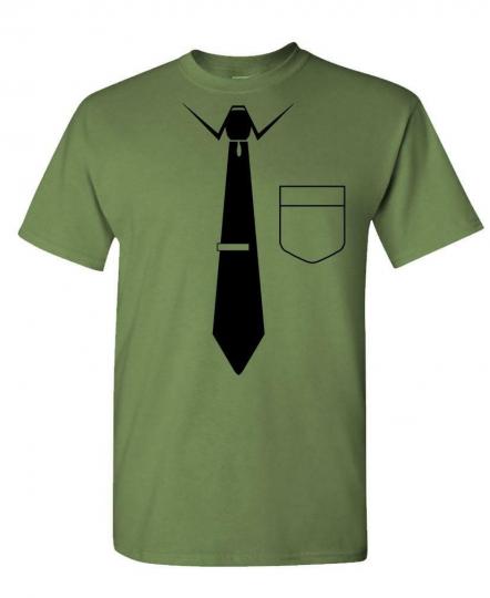 NECKTIE - funny nerd gag joke party neck tie - Mens Cotton T-Shirt
