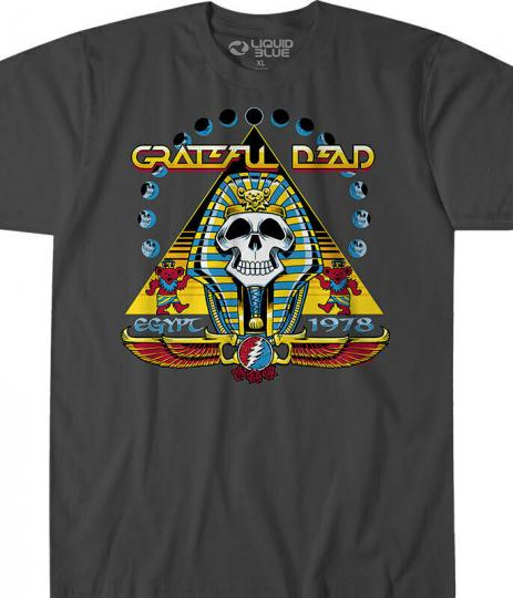 NEW Grateful Dead Egypt 1978 T-Shirt M L XL Pharaoh Garcia M L XL Gray Hippie