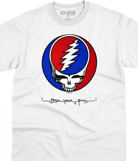 NEW Grateful Dead Stealie T-Shirt Liquid Blue OG SYF White M XL 2XL