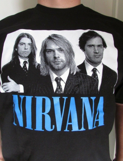NEW NIRVANA WITH FACES T-SHIRT