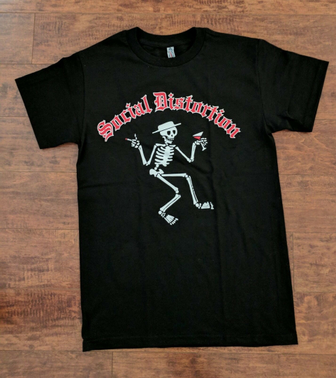 NEW SOCIAL DISTORTION CLASSIC SKELLY T SHIRT