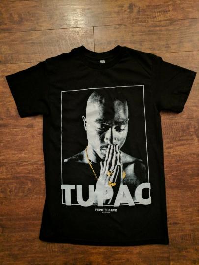 NEW TUPAC SHAKUR PRAYING HANDS T SHIRT