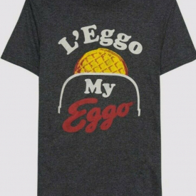 "NEW Unisex STRANGER THINGS 3 ""L'eggo My Eggo"" Waffles 11 HOPPER T-shirt SMALL S"