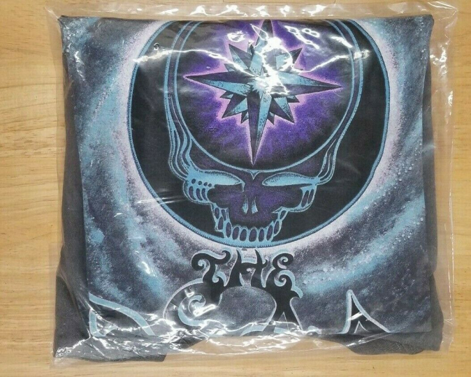 NEW & SEALED The Dead 2007 Concert Tour T-Shirt Charcoal Grey Grateful Dead  XL