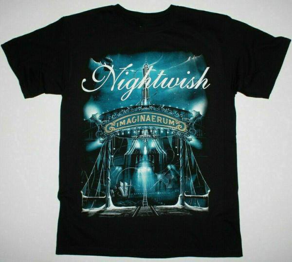 NIGHTWISH Band Imaginaerum Album Vintage Cotton Black Men S-5XL T-shirt NY94076