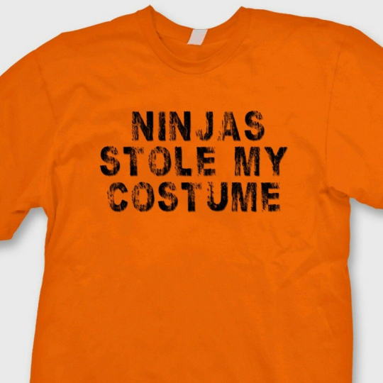 NINJAS STOLE MY COSTUME Funny T-shirt Halloween Gag Gift Tee Shirt
