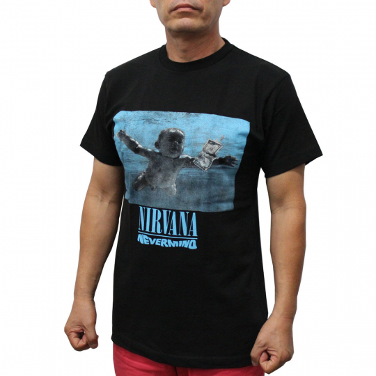 NIRVANA Rock Band T-Shirt Never mind