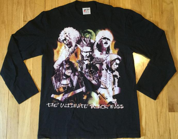 NOS vintage 1999 SEIKIMA II long sleeve t shirt M black 90s X Japan metal demon