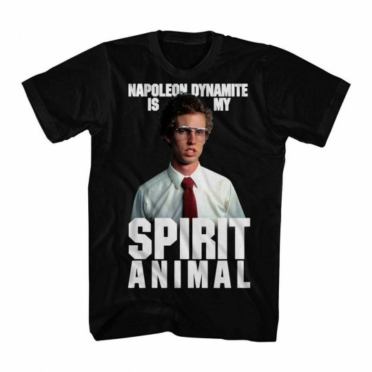 Napoleon Dynamite Napoleon Spirit Black Adult T-Shirt