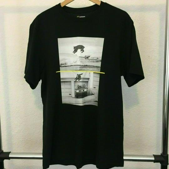 National Geographics x Element Skateboards Black T-Shirt, size L