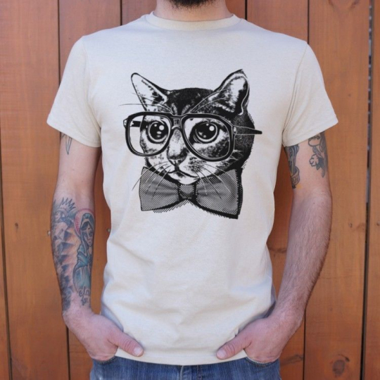 Nerd Cat, Men T-Shirt, FREE SHIPPING