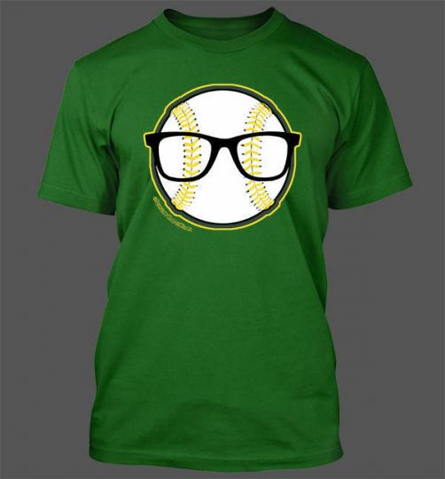 Nerd Power T-Shirt - Oakland Athletics A's Baseball Eric Sogard Face of MLB