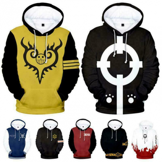 New Anime One Piece 3D Printed Hoodies Casual Sweatshirt Unisex Hooded Pullover