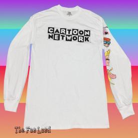 New Cartoon Network Cast Crew Adult Swim Mens Long Sleeve Vintage T-Shirt