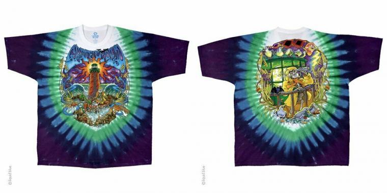 New GRATEFUL DEAD WATCH TOWER  TIE DYE T Shirt  LICENSED ROCK SHIRT
