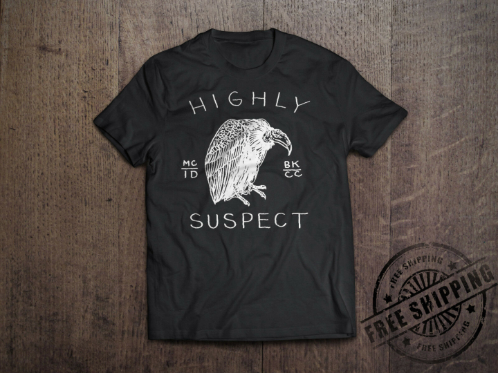 New Highly Suspect Logo Rock Band Men's BLACK T-Shirt Size S to 6XL
